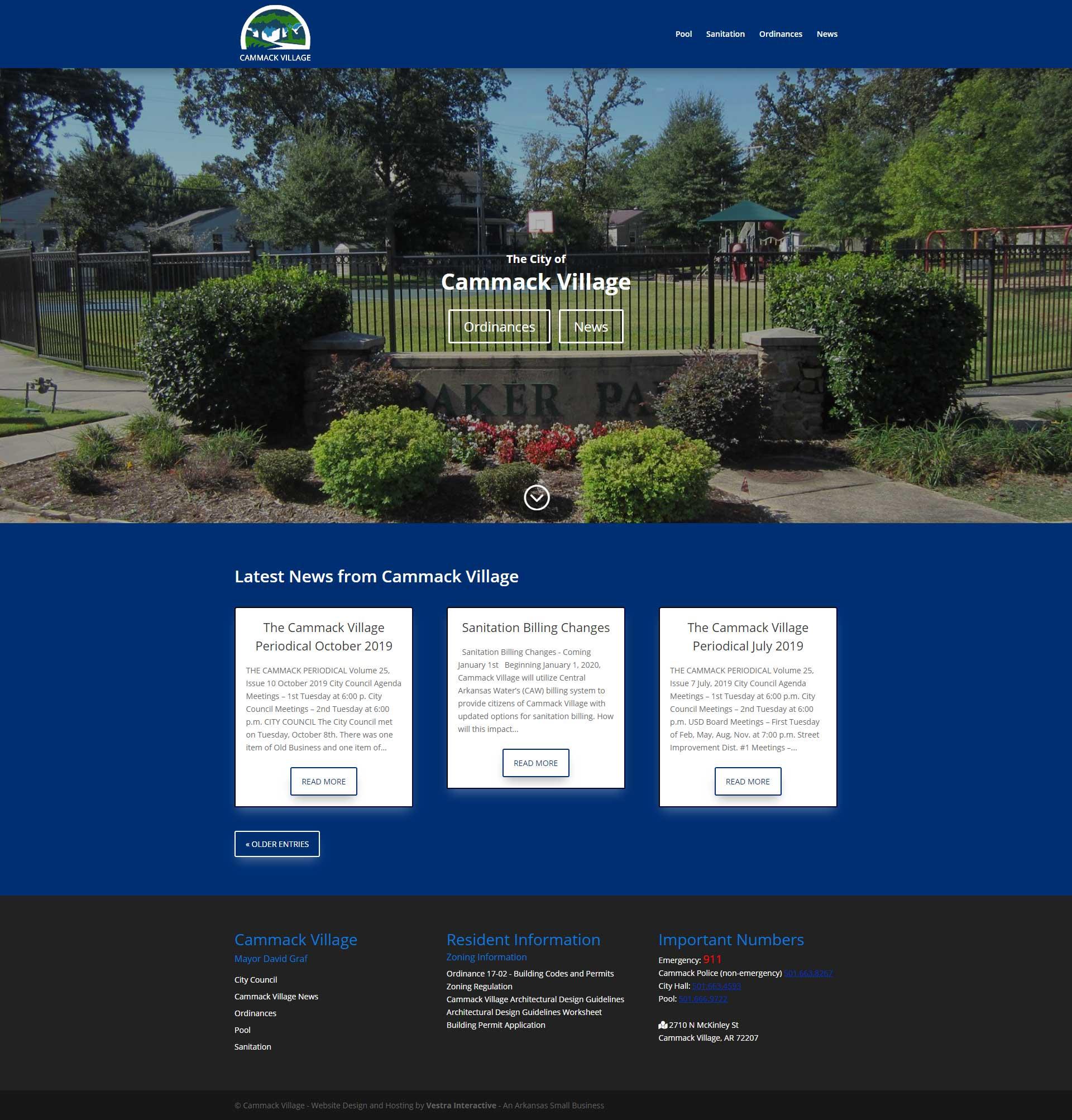Cammack Village Website Gets a Facelift 1